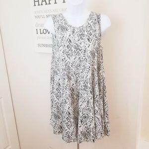 ECOTE` flirty baby doll black and white dress